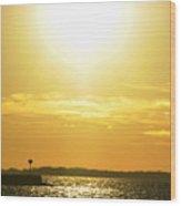 07 Sunset 16mar16 Wood Print