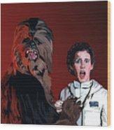 070. Naughty Wookie Wood Print