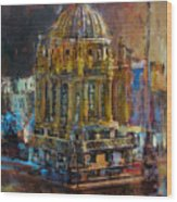 071 Famous Building Top In Chicago Illinois Wood Print