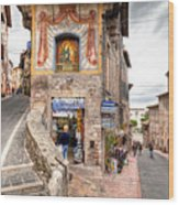 0755 Assisi Italy Wood Print