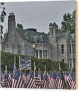 08 Flags For Fallen Soldiers Of Sep 11 Wood Print