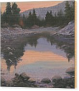 080110-2016  Sundown Reflections Wood Print