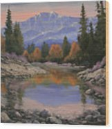 080120-1814  October View - Pikes Peak Wood Print