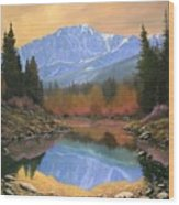 080220-4030 In All Its Glory - Pikes Peak Wood Print