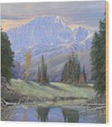 080324-4030 Breaking Through - Pikes Peak Wood Print