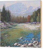 080401-4030 Shallow Waters - Pikes Peak Wood Print