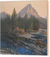 080414-4030 September Evening On Horse Thief Creek Wood Print