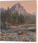 080525-1620  Fading Light On Horse Thief Creek Wood Print