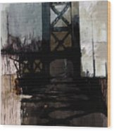 083 Manhattan Bridge Wood Print
