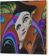 087 -   Flippy Girl  Wood Print