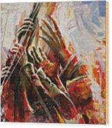 087 Marines Memorial Hands Wood Print