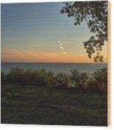 0874- Lake Michigan Sunset Wood Print