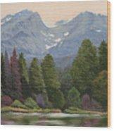 090817-1114  Ripples and Reflections - Sprague Lake Wood Print