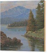091021-912  The Peak In June Wood Print