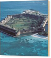 Fort Jefferson In The Gulf Of Mexico Wood Print