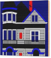 1080 Haight Street Wood Print by Asbjorn Lonvig