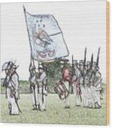 1812 Soldiers Wood Print