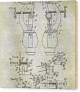 1902 Watchmakers Lathes Patent Wood Print