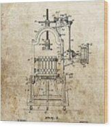 1903 Wine Press Patent Wood Print