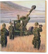 1-190th Artillery Wood Print