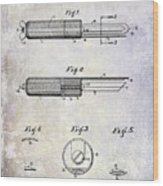 1920 Paring Knife Patent Wood Print