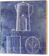 1921 Coffee Pot Patent Wood Print