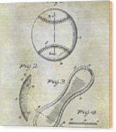 1924 Baseball Patent Wood Print