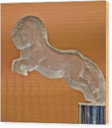 1925 Citroen Cloverleaf Hood Ornament 2 Wood Print