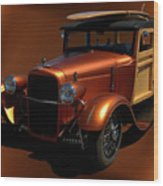 1929 Ford Model A Woody Wood Print