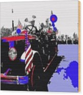 1930 American Lafrance Fire Truck Pro-viet Nam War March Tucson Arizona 1970 Color Added Wood Print