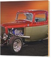 1932 Ford 'three Window' Coupe Wood Print