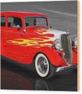 1933 Ford Sedan - 33fdtudorsed Wood Print