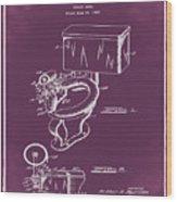 1936 Toilet Bowl Patent Chalk Wood Print