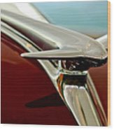 1938 Lincoln Zephyr Hood Ornament Wood Print