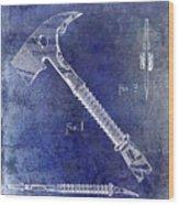 1940 Fireman Ax Patent Wood Print
