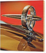 1947 Buick Roadmaster Hood Ornament Wood Print