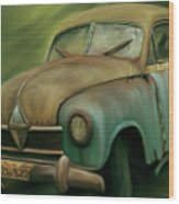 1950's Vintage Borgward Hansa Sports Coupe Car Wood Print