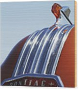1952 Pontiac Tin Woodie Wagon Hood Ornament Wood Print