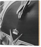 1954 Chrysler Imperial Sedan Hood Ornament 3 Wood Print