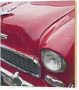 1955 Chevrolet Bel Air Hood Ornament Wood Print