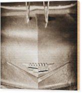 1956 Cadillac Eldorado Biarritz Convertible Hood Ornament - Emblem Wood Print