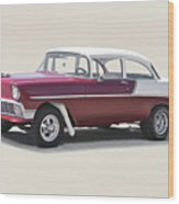 1956 Chevrolet 210 Coupe 'gasser Style' Wood Print