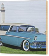 1956 Chevrolet Bel Air Nomad Wagon Wood Print