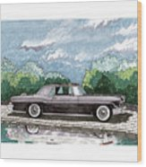1956  Lincoln Continental Mk II Wood Print