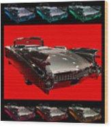 1959 Cadillac Eldorado Convertible . Wing Angle Artwork Wood Print