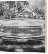 1959 Lincoln Continental Town Car Mk Iv Painted Bw Wood Print