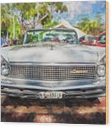 1959 Lincoln Continental Town Car Mk Iv Painted  Wood Print