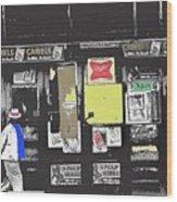 1960's Cigarette Beer Ads Meyer Avenue Barrio Tucson Arizona 1968-2011 Wood Print
