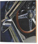 1963 Jaguar Xke Roadster Steering Wheel Wood Print