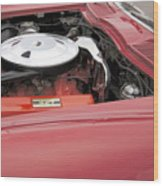 1963 Red Corvette Wood Print